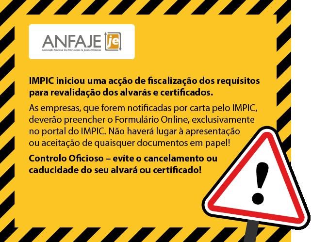 IMPIC já está a fiscalizar alvarás e certificados